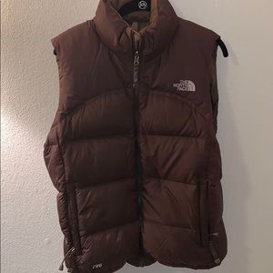 Brown Women's North Face Vest